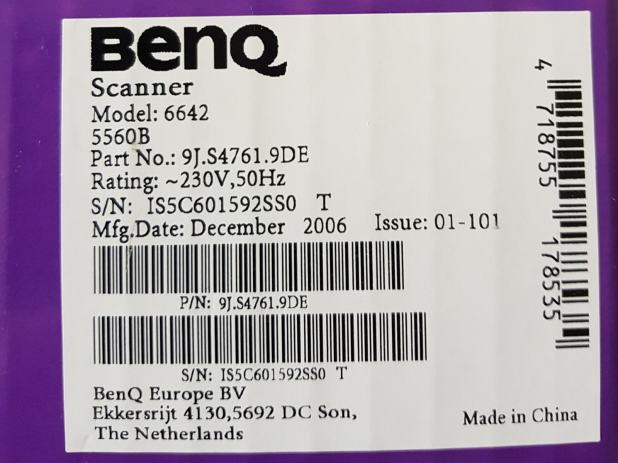 DRIVER FOR BENQ SCANNER 5560 SERIES