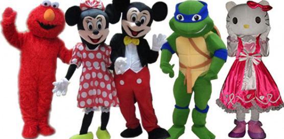 maskote za rođendan Maskote dječji rođendan Mickey, Minnie, Ninja, Hello Kitty, Spužva Bob maskote za rođendan