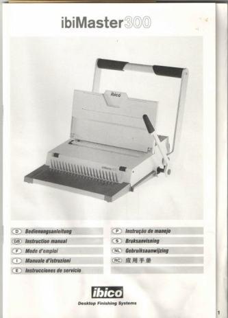 Ručni uvezivač IBIMASTER 300