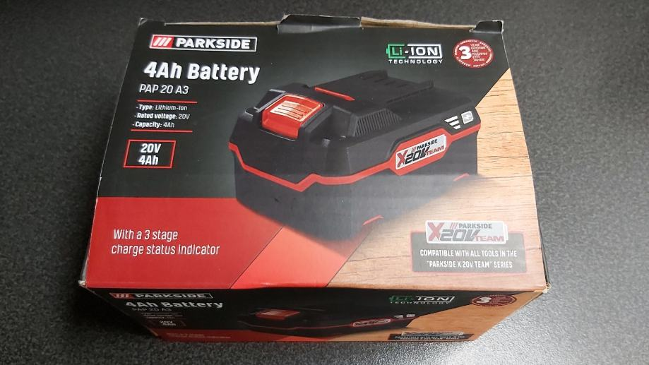 Parkside baterija 4ah