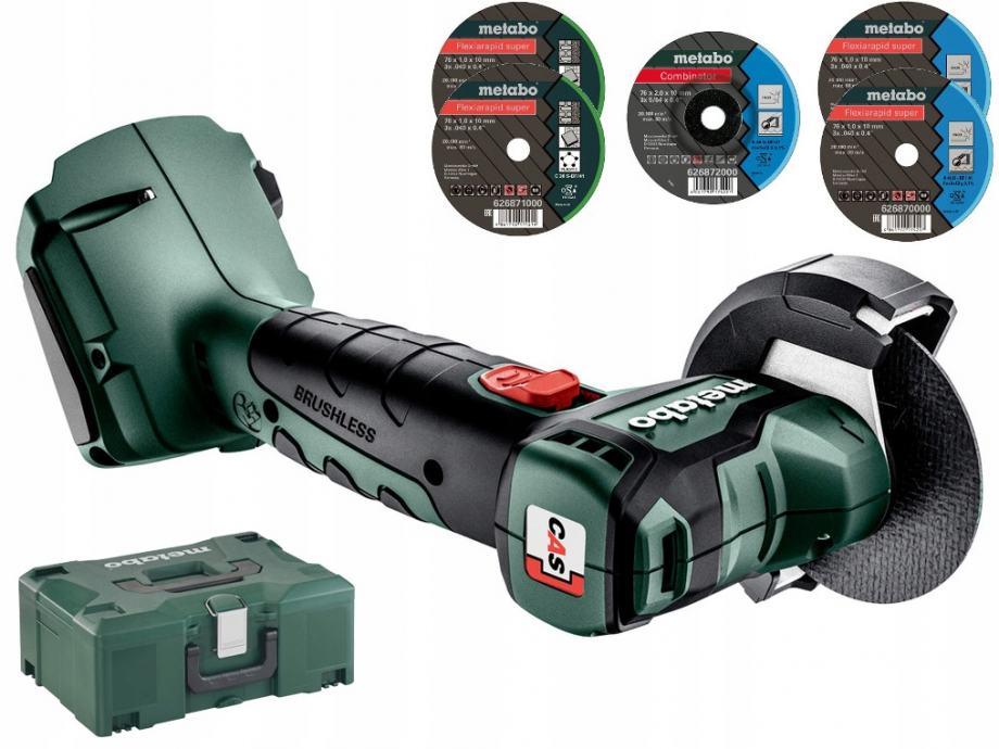 METABO akumulatorska kutna brusilica CC 18 LTX BL - aku 18V