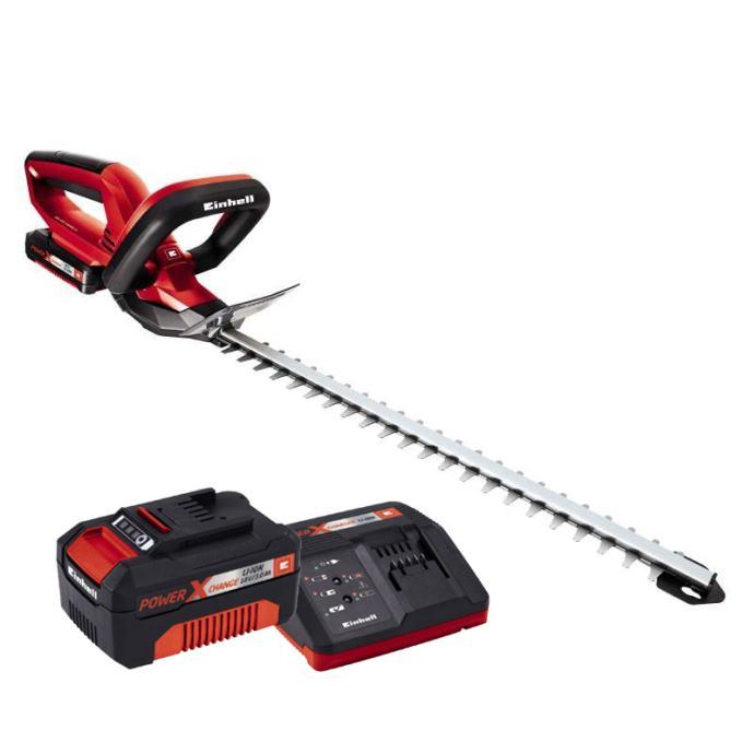 EINHELL set akumulatorske škare za živicu GE-CH 1846 Li + 3.0 Ah bater