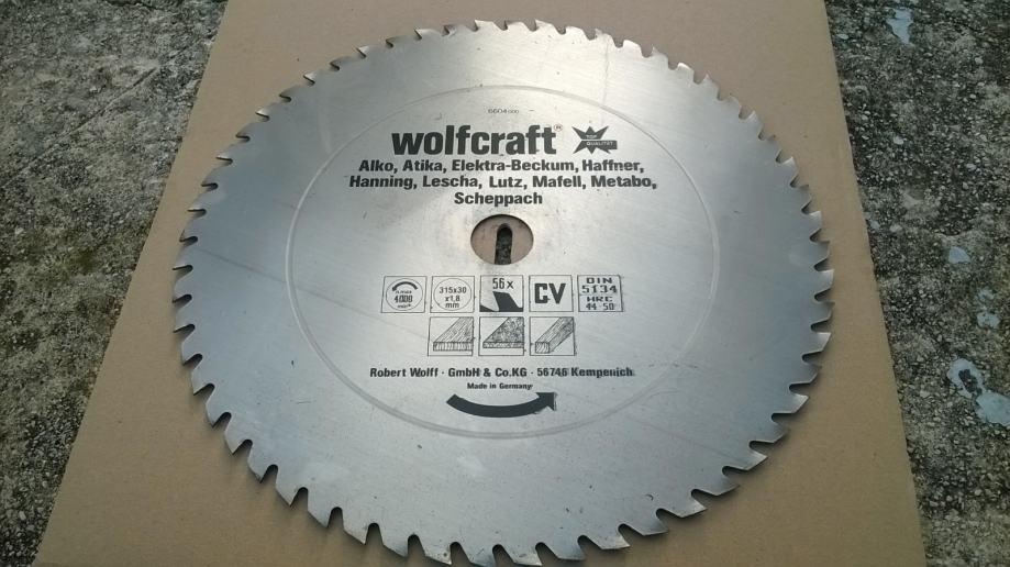 Wolfcraft Z56 315x1,8x30 pila disk za drvo pločevinu BEST BUY!!