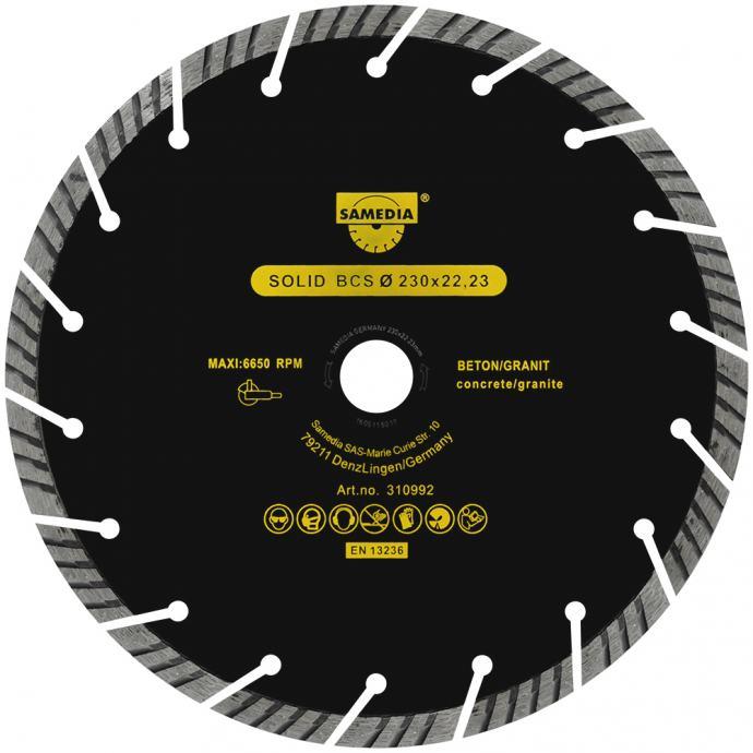 SAMEDIA dijamantna rezna ploča za beton 115 mm / 125 mm / 230 mm