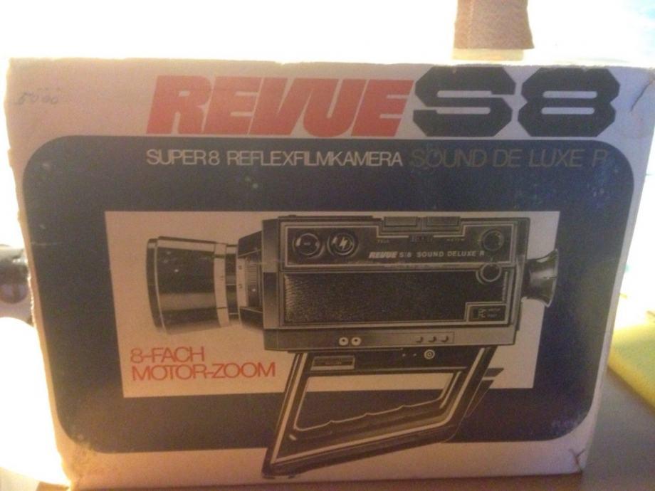 Video Kamera Revue S8 S 8 Sound Deluxe Film camera 1.7 7.5-60mm