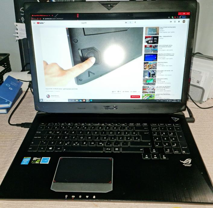 "Gaming laptop ASUS ROG G750/8GB grafička/16GB RAM-a/128SSD/17.3"" ekran"