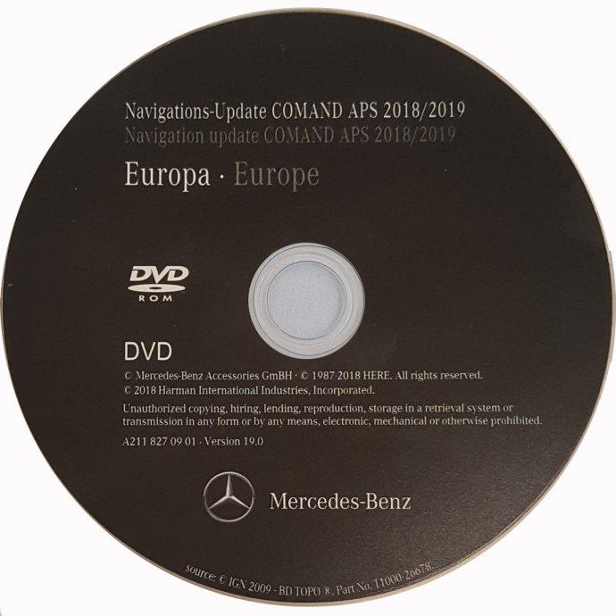 NAVIGACIJA Mercedes DVD / CD / SD kartica 2018 / 2019 za sve modele !