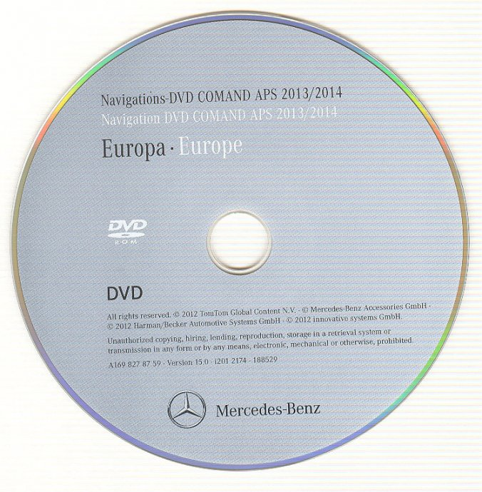 MERCEDES NAVIGACIJA DVD/CD KARTE COMAND/AUDIO APS/NTG *2018/2019*