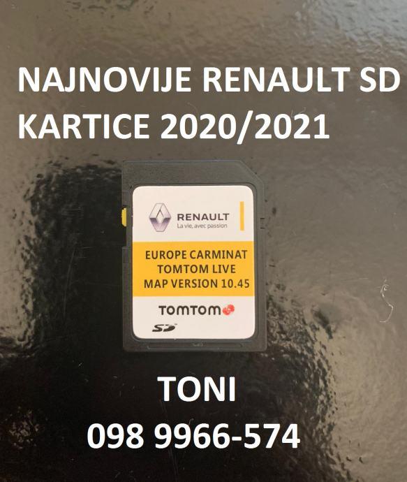Renault Carminat TomTom Live 2020/2021 navigacijska SD kartica 10.45