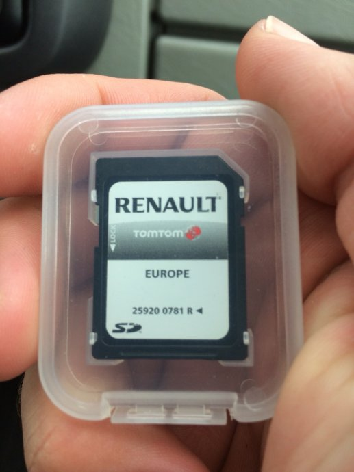 Renault Carminat TomTom navigacijska kartica komplet Europa 2019