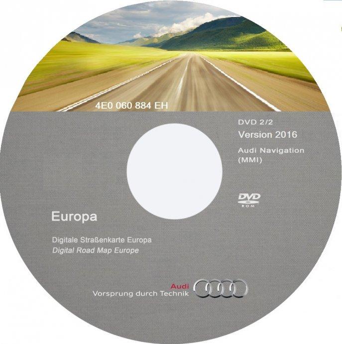 AUDI NAVIGACIJA DVD RNS-E i MMI KARTA *2019/2020*