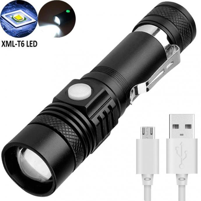 LED Ručna Lampa T6 , zoom, USB