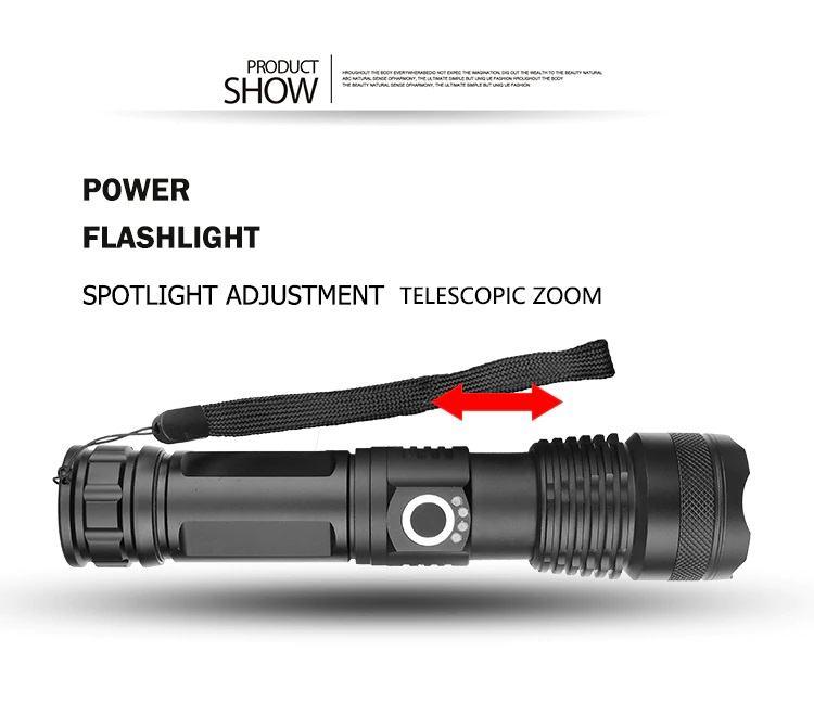 LED Ručna Lampa XHP50 , zoom, USB