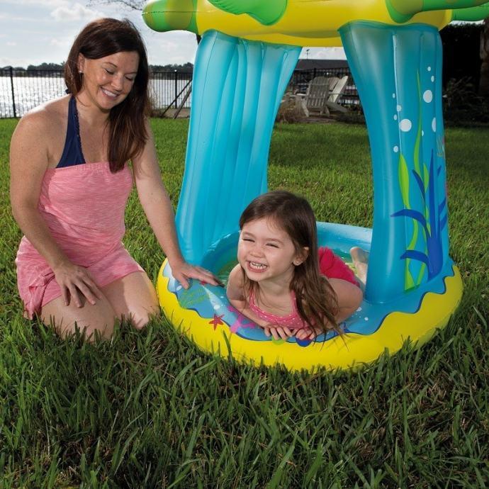 Dječji bazen Kornjača sa zaštitom od UV zračenja NOVO!!! ZAPAKIRANO!!!
