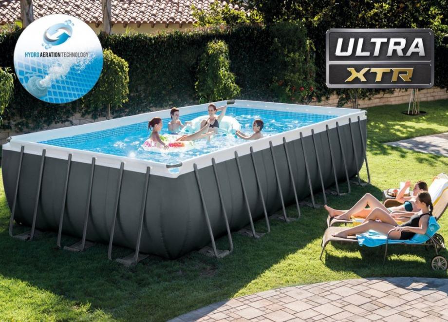 26364 NP Vanjski bazen Intex Ultra Metal 732 x 366 x 132 cm, piješćeni
