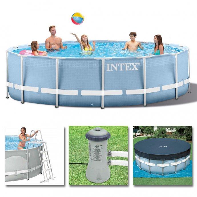 Intex bazeni novi 457x107 sa pumpom,ljestvama,podlogom,pokrivacem