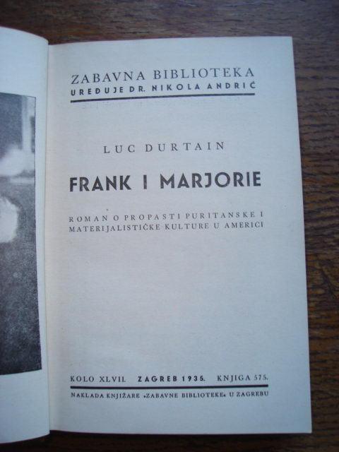 Luc Durtain: Frank i Marjorie