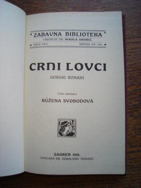 Ružena Svobodova: Crni Lovci 1922.g.