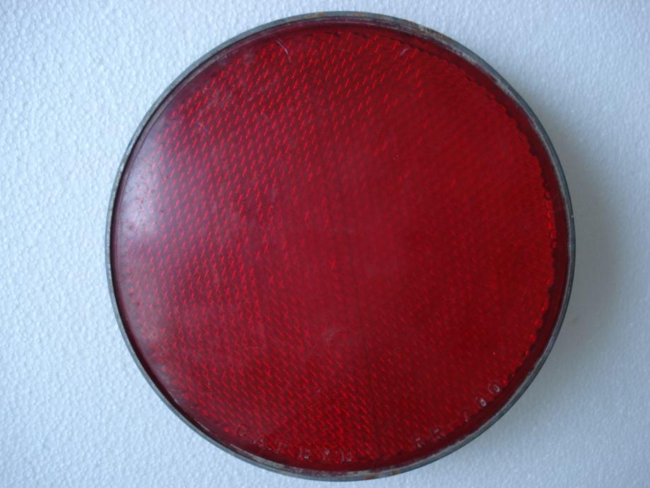 Veliko okruglo crveno mačje oko za bicikl ili slično, fi 20 cm, Osijek
