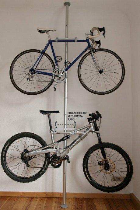 Stalak za bicikle - Okomiti - Podesivi - Max. 4 bicikla