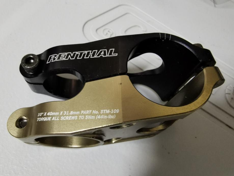 Renthal Duo - 31.8mm, 10° Stem - gold/black, Length: 40mm