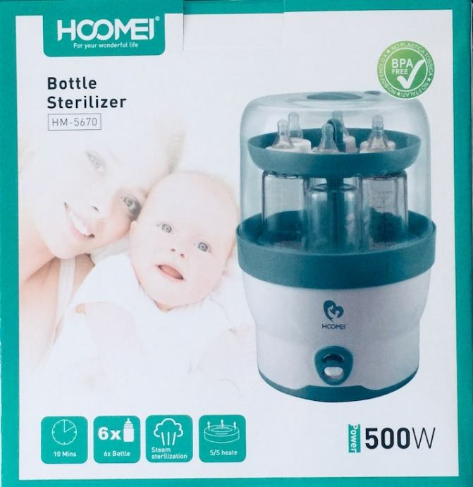 Sterilizator električni parni do 6 bočica i pribora; BPA free, dostava