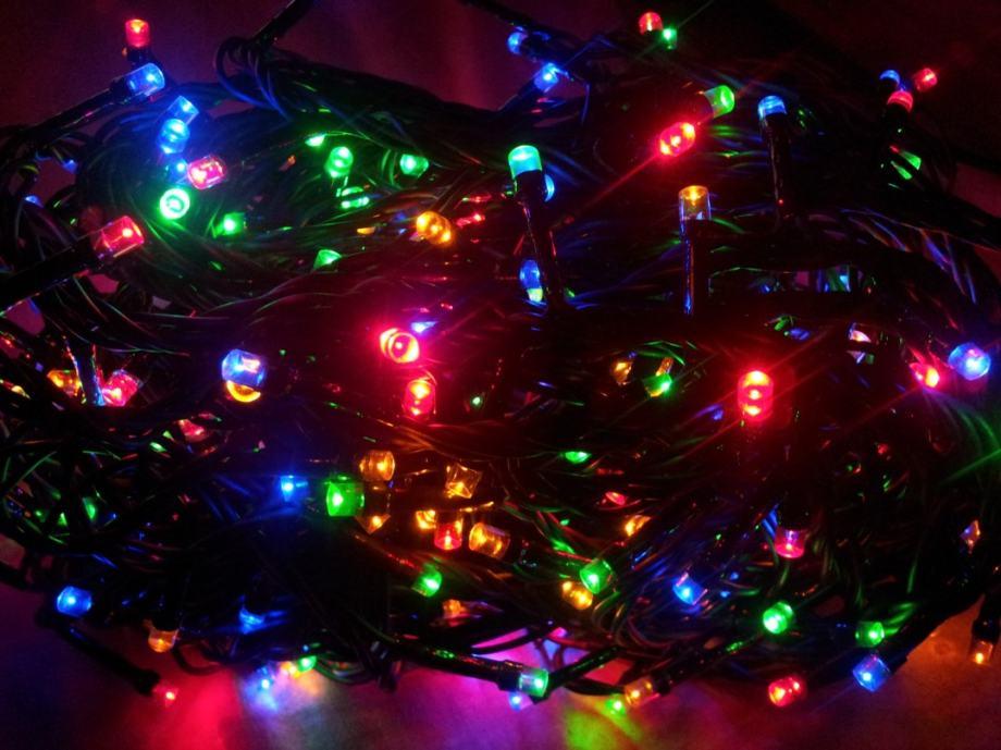 Bozicne LED lampice šarene 360kom novo