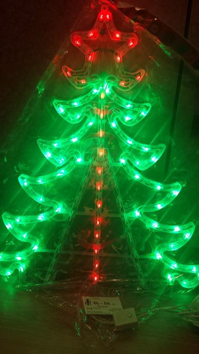 LED ukras božićna jelka borić 61x54cm