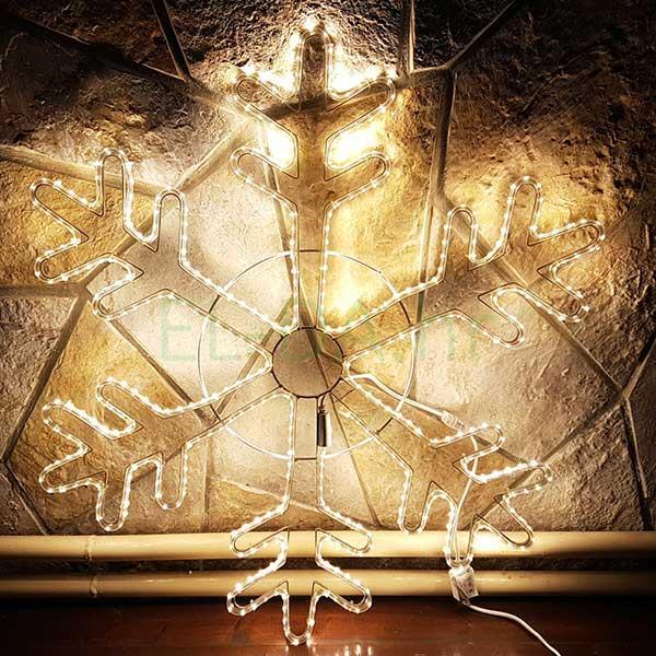LED pahulja 76x76cm metalni okvir