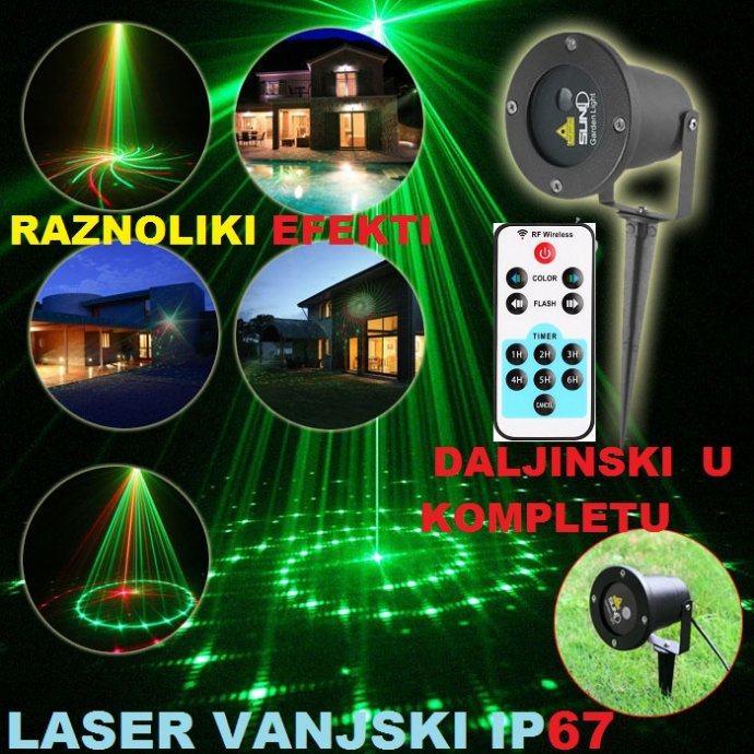 Laser projektor Crvena Zelena ZRAKA 8 EFEKATA za VANJSKU UPORABU IP67