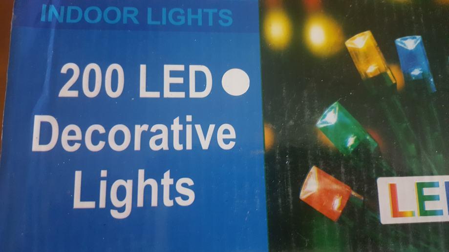 Svijećice žarulje za božićni i novogodišnji bor jelku 200 LED Bijele