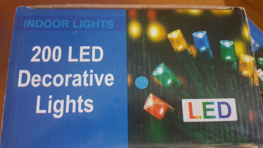 Svijećice žarulje za božićni i novogodišnji bor jelku 200 LED Plava