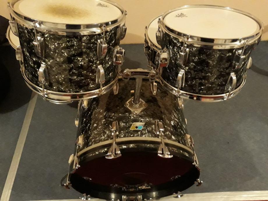 Ludwig 70s maple black diamond pearl bubanj
