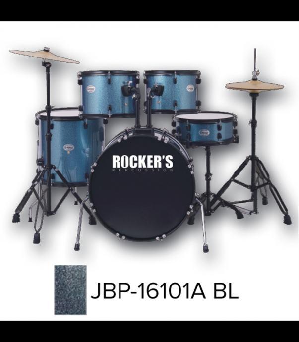 ROCKERS JBP-16101A (22, 10, 12, 16, 14) BL + STOLICA I ČINELE BUBANJ