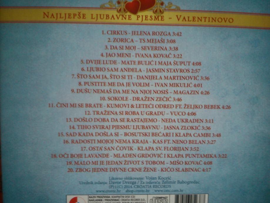 Najljepše ljubavne pjesme - Valentinovo