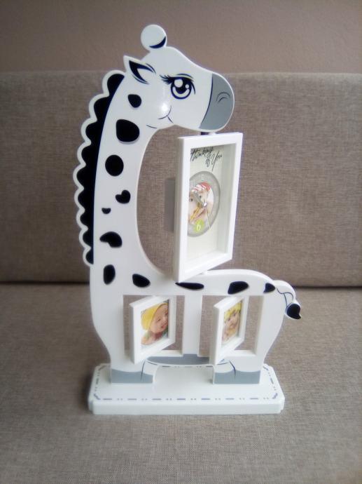 Dječji sat - okvir za slike - Žirafa