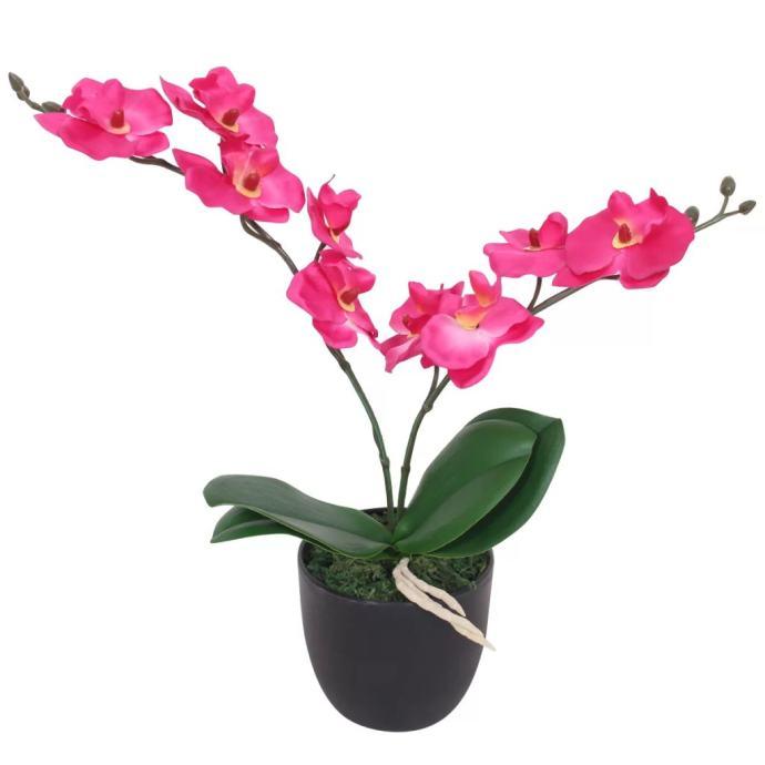 Umjetna orhideja s posudom 30 cm crvena NOVO