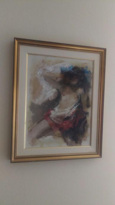 Umjetnička slika, akademski slikar, Mato Jurković , ženski akt