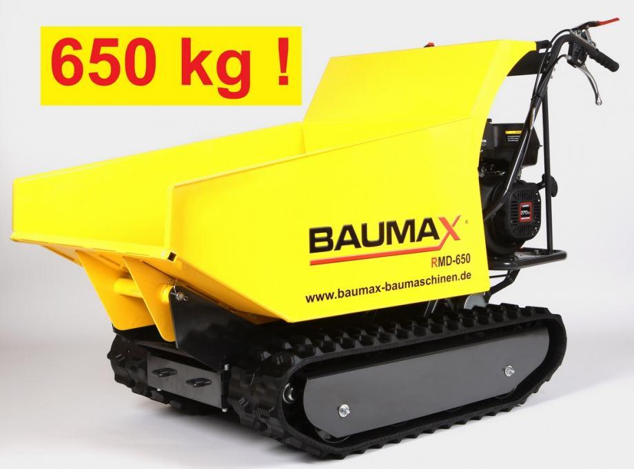 Demper, Mini kiper - gusjeničar BAUMAX do 650kg 6,6kW - DOSTAVA