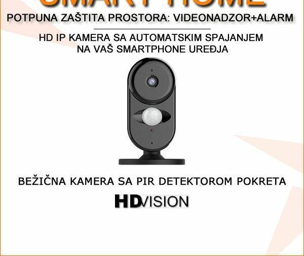Bežična alarmna kamera s PIR detekcijom pokreta