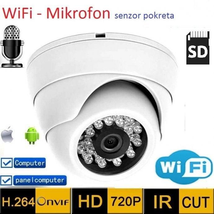 IP kamera WIFI kamera video nadzor kamera IRcut noćno DOME kamera + SD