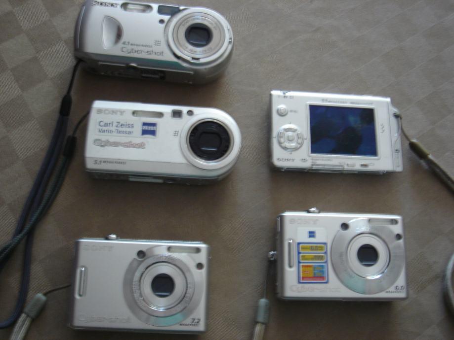 Sony- fotovideokamere,starije tipe,5kom-sve ispravno ,vidi slike!