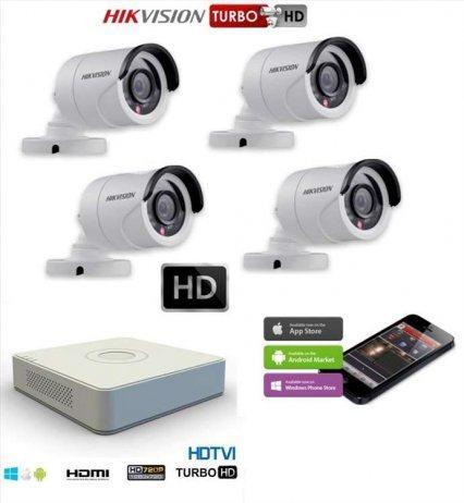 Video nadzor komplet sa 4 HD FULL HD 1080p kamere HIKVISION
