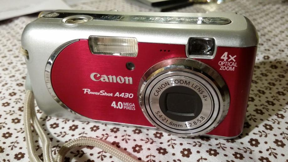 Canon PowerShot A430 4.0 mega piksela djelomično ispravan