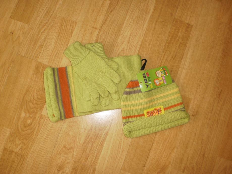 Kapa,šal i rukavice za djecu NOVO