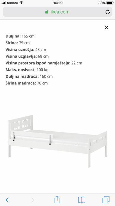 Dječji krevet 70x160