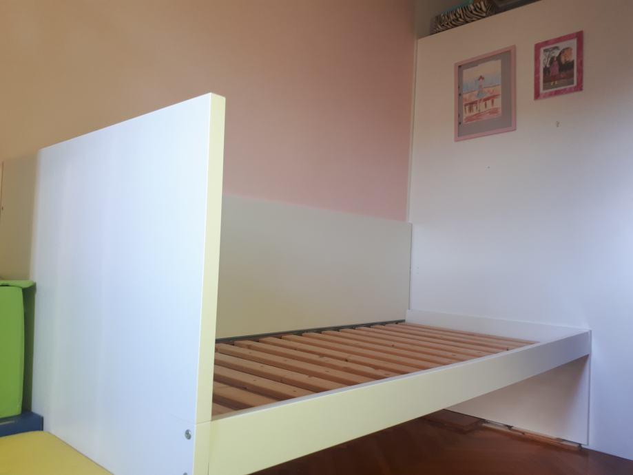 IKEA FLAXA bijeli krevet  206x96 cm (madrac 90x200cm)