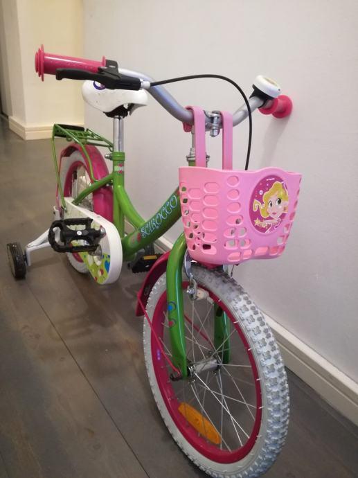 """Dječji bicikl 16 """" u odličnom  stanju s pomoćnim kolima"""