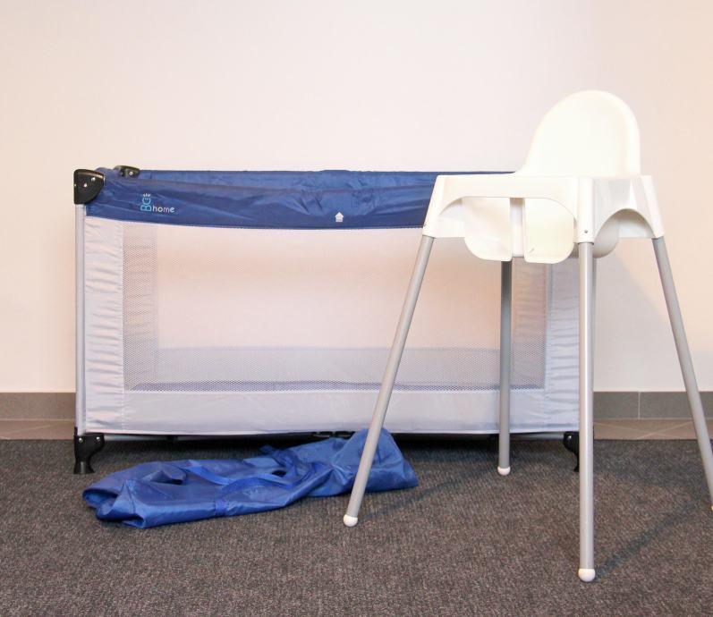 Dječji krevetić putni BC Home 120x60cm + putna hranilica Ikea GRATIS!