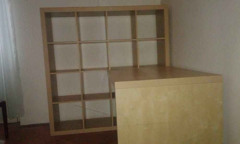 IKEA KALLAX kombinacija radnog stola i police za knjige